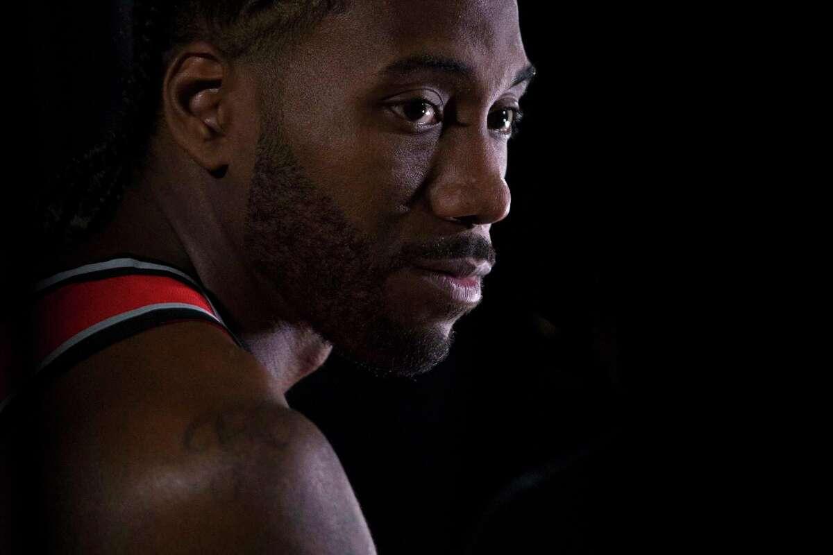 Toronto Raptors NBA basketball team player Kawhi Leonard is photographed during media day in Toronto, Monday, Sept. 24, 2018. (Chris Young/The Canadian Press via AP)