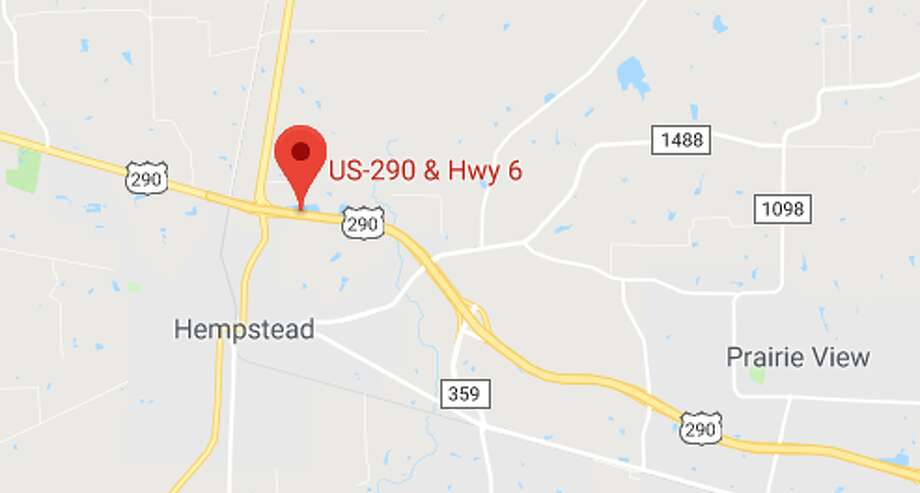PHOTOS: Dangerous roads Details are scarce, but officials say a car collided with an 18-wheeler at U.S. 290 near Hempstead about 4:30 a.m. Monday, Sept. 24, 2018. The car driver died.  >>>See some of the Houston area's most-dangerous roadways ... Photo: Google Maps
