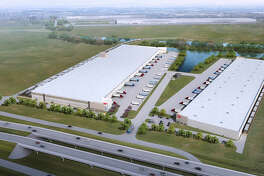 Trammll Crow Co. has started construction on a rail-served distribution facility for Plastic Bagging & Packaging in the Cedar Port Industrial Park.