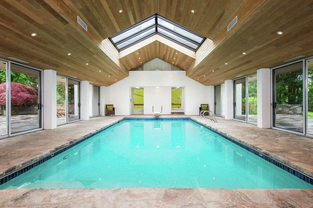 The custom-built 14-room contemporary at 21 Windrose Way is part of the private, gated Mead Point association. It is listed for $6.75 million.