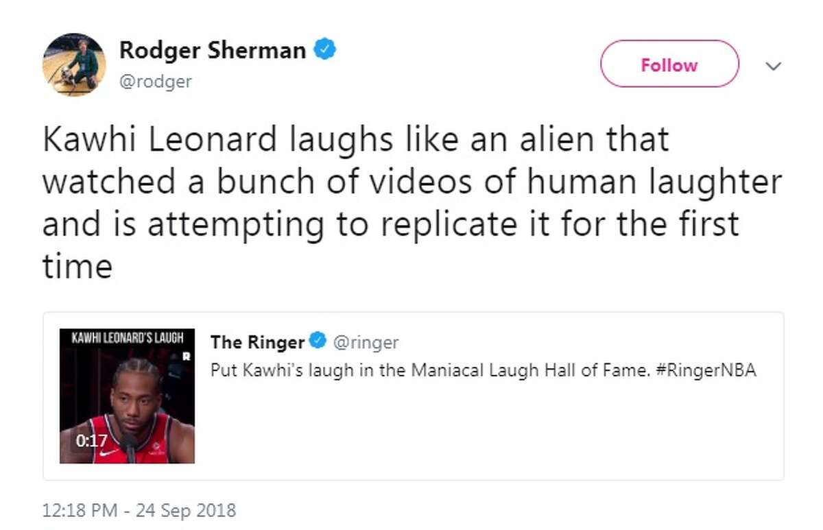 @TommySledge: Not sure what Joaquin Phoenix's laugh will sound like as the new Joker, but can we just dub Kawhi Leonard's version over it?