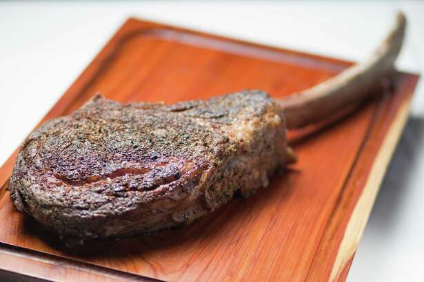 Tomahawk chop steak at Killen's Steakhouse