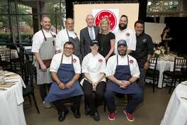 Ryan Lachaine, Mike Puccio, Rob and Susan Reedy, Philippe Gaston, Hugo Ortega, Ruben Ortega, Kathy Elkins, and Bobby Matos