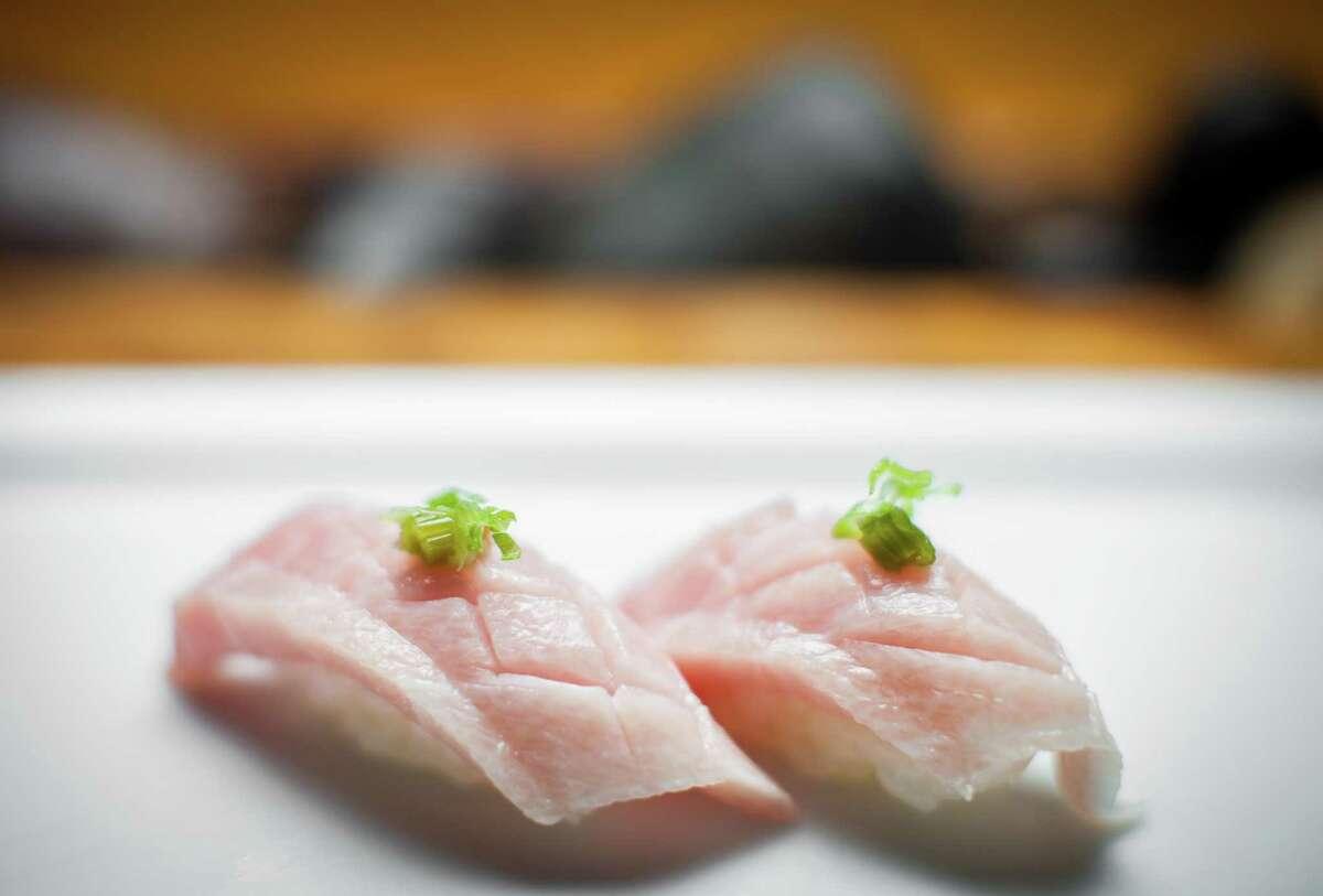 Imported tuna belly at Kuu