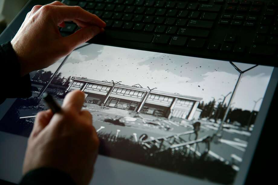 "A concept artist works on the ""The Walking Dead"" video game at Telltale Games in San Rafael in 2014. Photo: Ramin Rahimian / New York Times 2014"