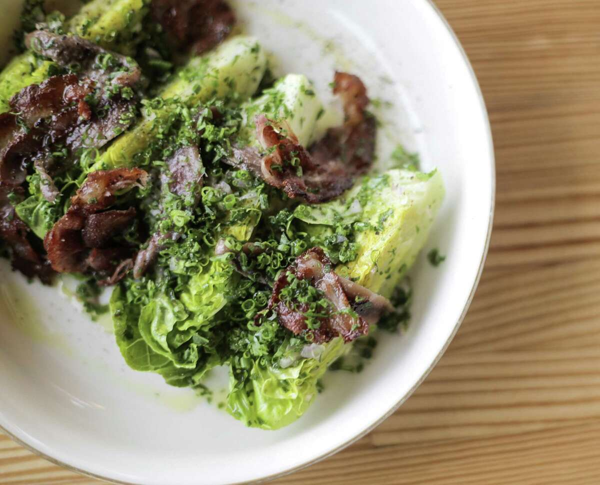 Gem lettuce at Nancy's Hustle, an EADO restaurant that's been popular since it's opening, photographed on Wednesday, March 28, 2018, in Houston. ( Elizabeth Conley / Houston Chronicle )