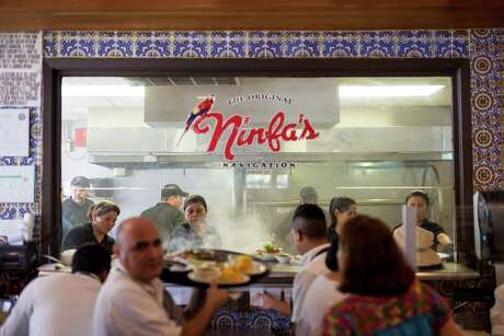 A kitchen view at the Original Ninfa's on Navigation