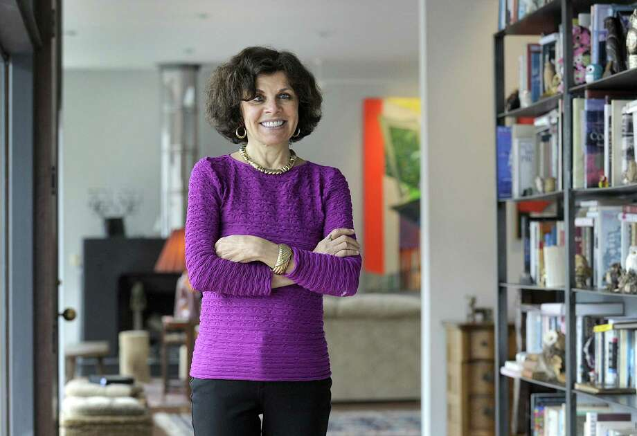 "Nadine Strossen, of New Milford, has written a new book, "" Why we should resist it with free speech, not censorship."" Photo taken in her New Milford home, Friday, April 6, 2018. Photo: Carol Kaliff / Hearst Connecticut Media / The News-Times"