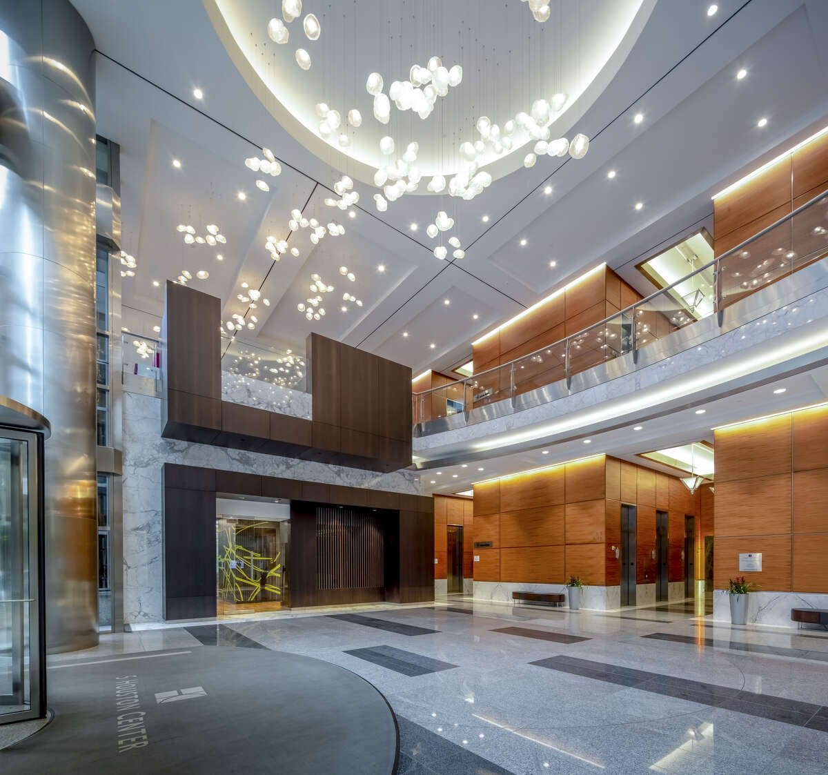 The lobby is among the renovations at Spear Street Capital's 5 Houston Center.