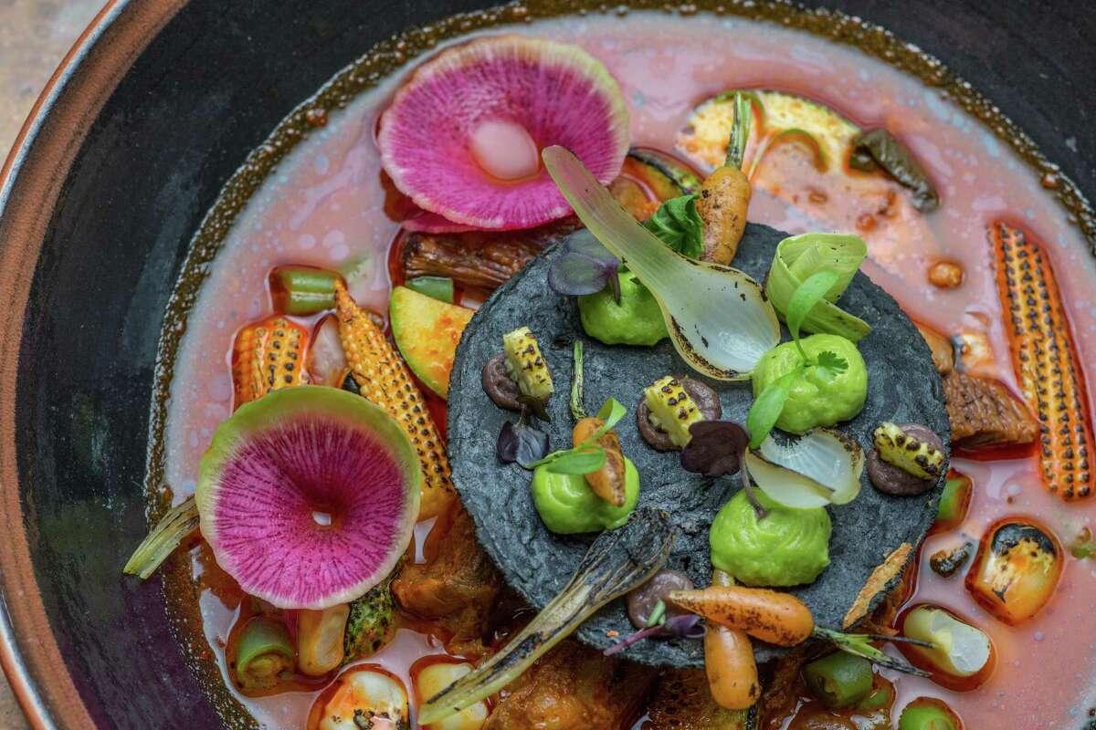 Mole de Olla (oxtail soup) at Hugo's