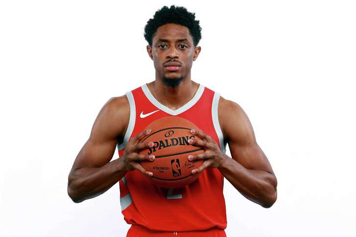 HOUSTON, TX - SEPTEMBER 24:  Brandon Knight #2 of the Houston Rockets poses for a portrait during the Houston Rockets Media Day at The Post Oak Hotel at Uptown Houston on September 24, 2018 in Houston, Texas. NOTE TO USER: User expressly acknowledges and agrees that, by downloading and or using this photograph, User is consenting to the terms and conditions of the Getty Images License Agreement.