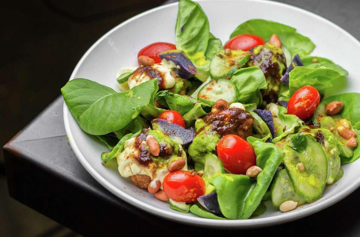 Chaat salad at Pondicheri