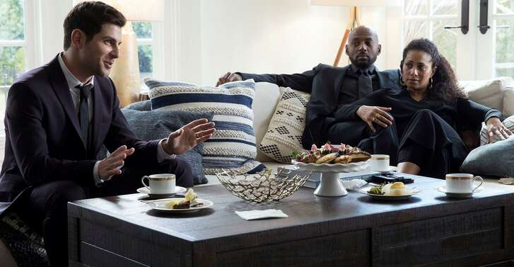 """David Giuntoli, (left), Romany Malco and Christina Moses appear in the pilot of the new ABC drama """"A Million Little Things."""""""