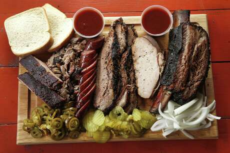 Ribs, jalapeno sausage, turkey and beef rib at Roegels Barbecue