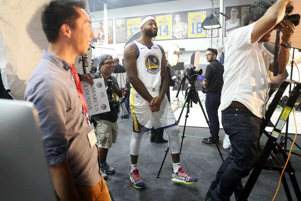 5f1b57095 1of4DeMarcus Cousins during Golden State Warriors  Media Day in Oakland