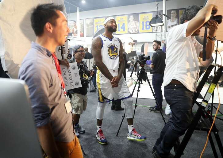 DeMarcus Cousins during Golden State Warriors' Media Day in Oakland, Calif. on Monday, September 24, 2018.
