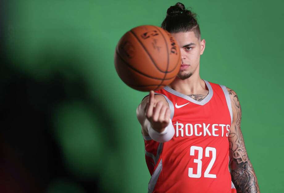 Houston Rockets guard Rob Gray (32) spins the ball on his finger during their Media Day at the Post Oak Hotel Monday, Sept. 24, 2018, in Houston. Photo: Steve Gonzales, Staff Photographer / © 2018 Houston Chronicle