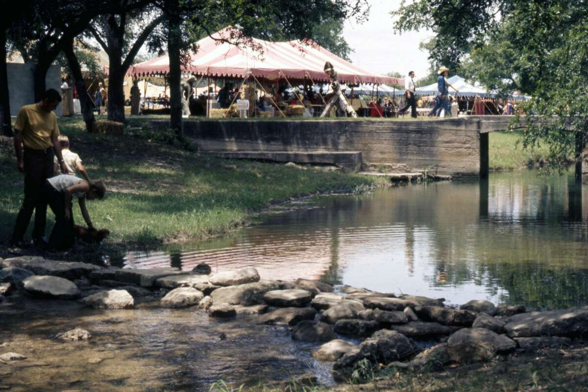 A view of the creek at Schreiner University during the 1987 Texas Arts & Crafts Fair