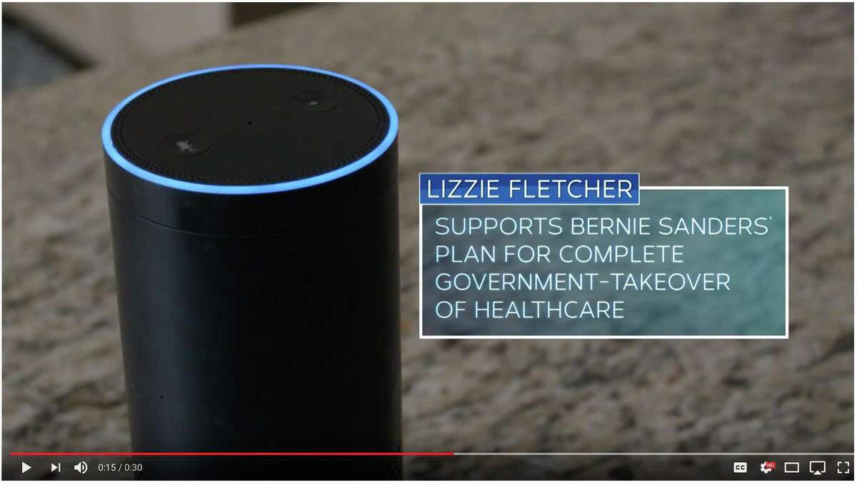 Screengrab of video released by John Culberson campaign attacking Lizzie Fletcher.