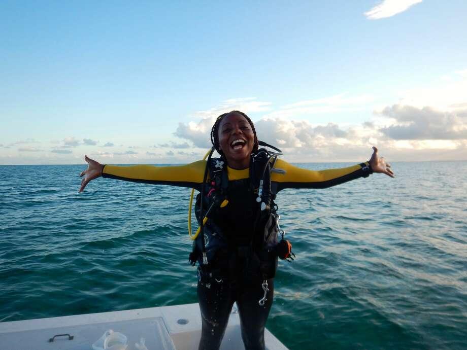 Marine biologist Nicola Smith, from the Bahamas, is this year's recipient of the $100,000 Bullitt Environmental Prize, an award announced at a Bullitt Foundation dinner on Monday night. Photo: Courtesy Bullitt Foundation