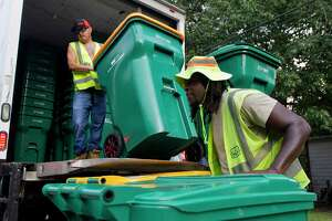 John Geiger, manager of environmental services for The Woodlands, was one of many township staff who worked for more than eight months on a new contract with Waste Management, which is the nation's largest trash services company. He said although there is a 31 percent increase in monthly costs to residents, the per month bill of $14.15 is still one of the lowest in the Houston region.