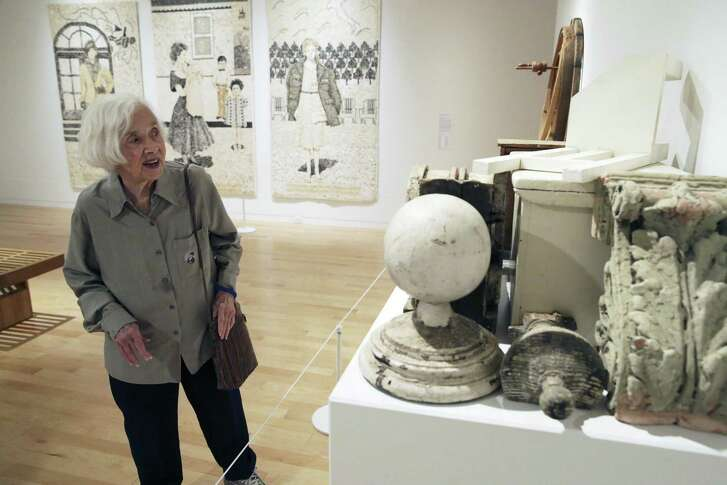 """The Chair in the Smokehouse,"" a 2011 assemblage of found objects, is one of the newer works in a new exhibition of artist Marilyn Lanfear's work at the San Antonio Museum of Art. Lanfear chatted about the work in a walk-through earlier this month."