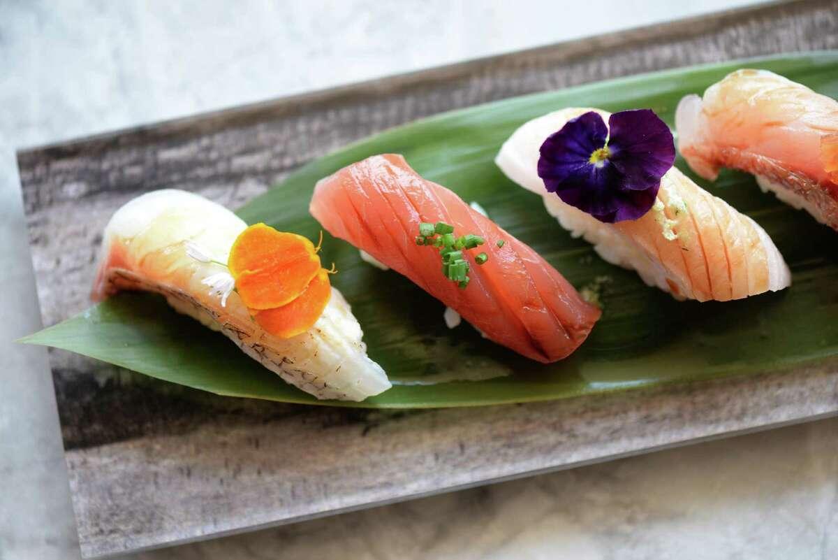 Chef's nigiri sushi at Tobiuo Sushi & Bar in Katy. Sushi chef MikeLim has left Tobiuo to open his own restaurant, Kanau Sushi in Midtown, opening early 2020.