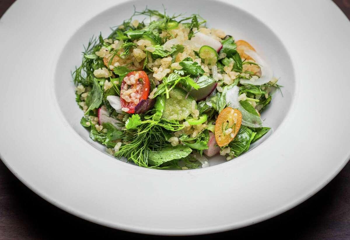 Crispy rice salad at UB Preserv