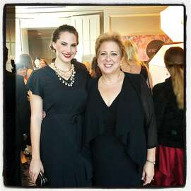 Emma Kathleen Hepburn Ferrer (left) with UNICEF USA President Caryl Stern at the Four Seasons Hotel. Sept. 22, 2018.