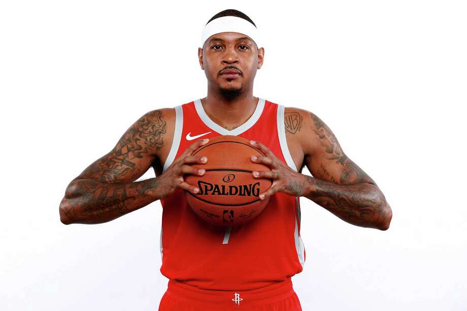 The Rockets are hoping the addition of Carmelo Anthony can help give them a shot at the NBA title. Photo: Tom Pennington, Staff / Getty Images / 2018 Getty Images
