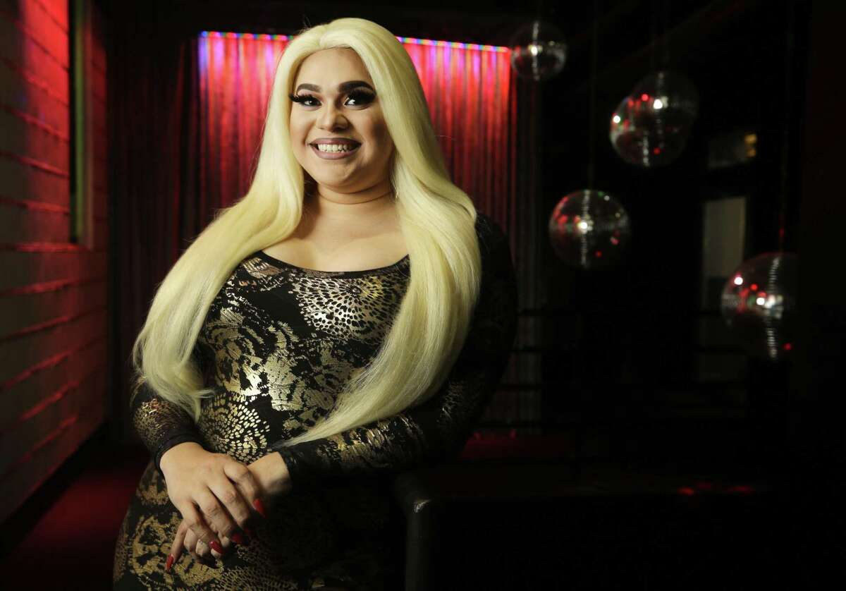 Tatiana Mala-Niña is shown before a performance at Rich's Houston, 2401 San Jacinto St., Sunday, Sept. 23, 2018, in Houston. Tatiana Mala-Niña is schedule to read at an upcoming Drag Queen Storytime event at the Freed-Montrose Neighborhood Library.