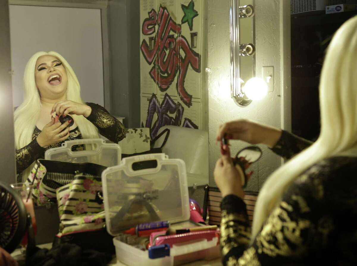 Tatiana Mala-Niña is shown before a performance at Rich's Houston, 2401 San Jacinto St., Sunday, Sept. 23, 2018, in Houston. Tatiana Mala-Niña said she was surprised by the backlash against the library readings.