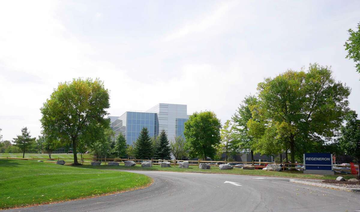 A view of the Regeneron building in the Rensselaer Tech Park on Thursday, Sept. 21, 2017, in North Greenbush, N.Y. (Paul Buckowski / Times Union)