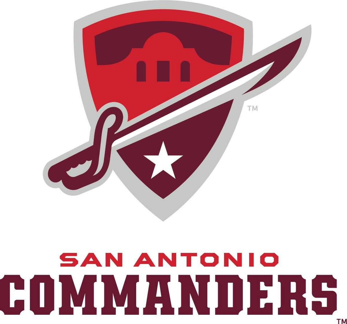 The Alliance of American Football announce official logo for the San Antonio team. The team will be called the Commanders, a nod to San Antonio's designation as Military City, USA. The team's logo, which represents a military patch and includes a depiction of the Alamo, a military sword and a star, is accentuated in maroon, red and silver, the team's colors.