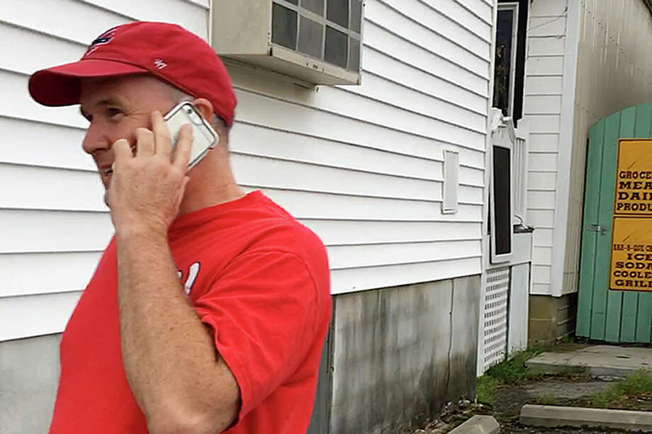 Mark Judge outside a friend's home in the seaside holiday village of Bethany Beach, Del. Photo: Washington Post Photo By Gabriel Pogrund / The Washington Post