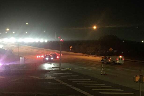 A motorcyclist was killed Monday night in a collision with a BMW SUV on Wurzbach Parkway.
