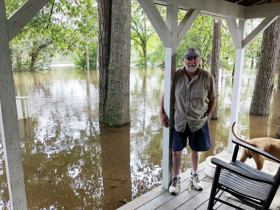 Pastor Willie Lowrimore of The Fellowship With Jesus Ministries talks about the flooding of his church in Yauhannah, S.C., on Monday, Sept. 24, 2018. The church is on the bank of the Waccamaw River which has already risen above its record crest and is expected to keep rising for several days, forcing thousands of evacuations in the aftermath of Hurricane Florence. (AP Photo/Jeffrey S. Collins) Photo: Jeffrey S. Collins / AP