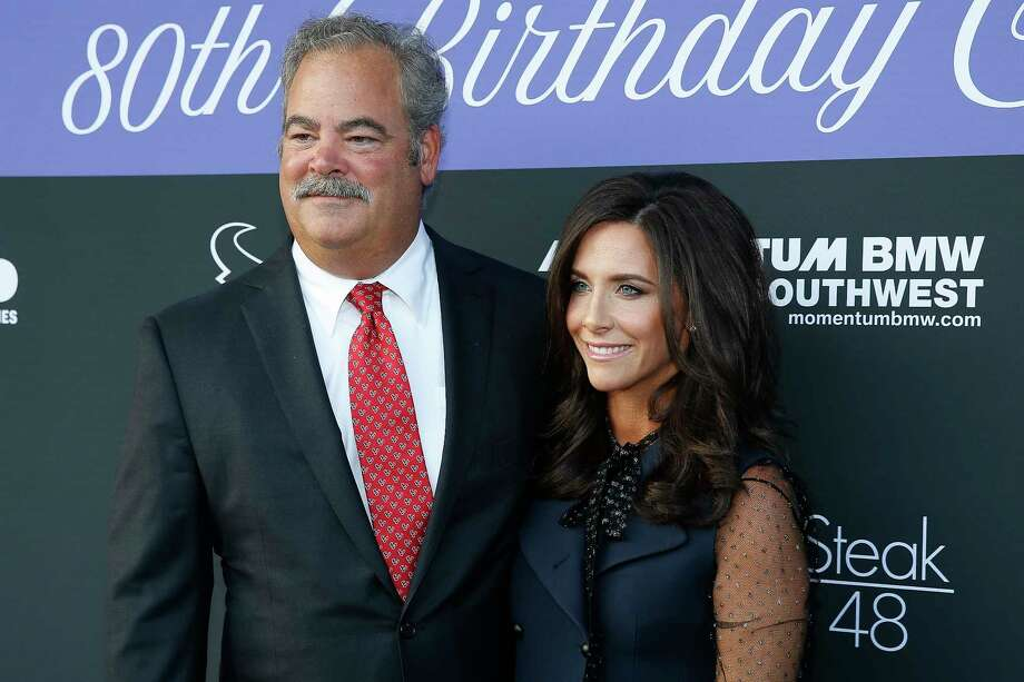 Texans chairman and chief operating officer Cal McNair and his wife, Hannah McNair, arrive at the March of Dimes' 80th Birthday Celebration hosted by the McNair Family and Houston Texans at Steak 48 Monday Sept. 24, 2018 in Houston. Photo: Michael Ciaglo, Staff Photographer / Michael Ciaglo