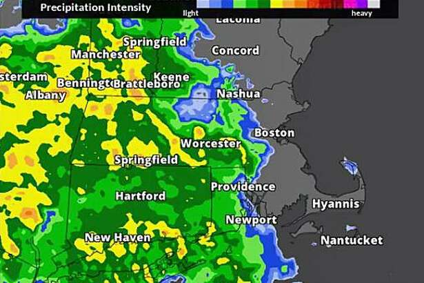 Here is one model simulation of what the radar may look like today - periods of heavy rain later this morning into this afternoon, then tapering off this evening. A widespread 1-2 inch rainfall is expected across MA, RI and CT with possibly up to 3 inches in spots. Minor street/highway flooding is expected. Click here to see the map in motion