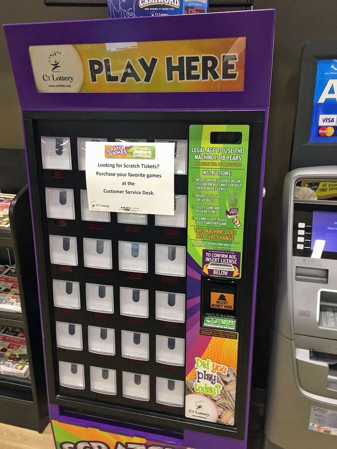 CT Lottery plans to remove vending machines that only sell instant, scratch games tickets. The new vending machines that will have touch-screen technology will sell both scratch and draw game tickets. Photo: Jim Shay /Hearst Connecticut Media
