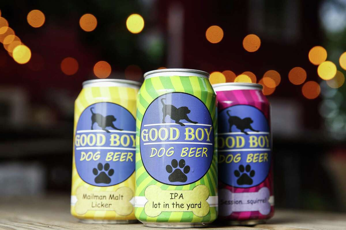 Henderson Heights owners Megan and Steve Long have launched Good Boy Dog Beer, a pork, chicken or vegetable based beverage for dogs Thursday Sept. 20, 2018 in Houston.