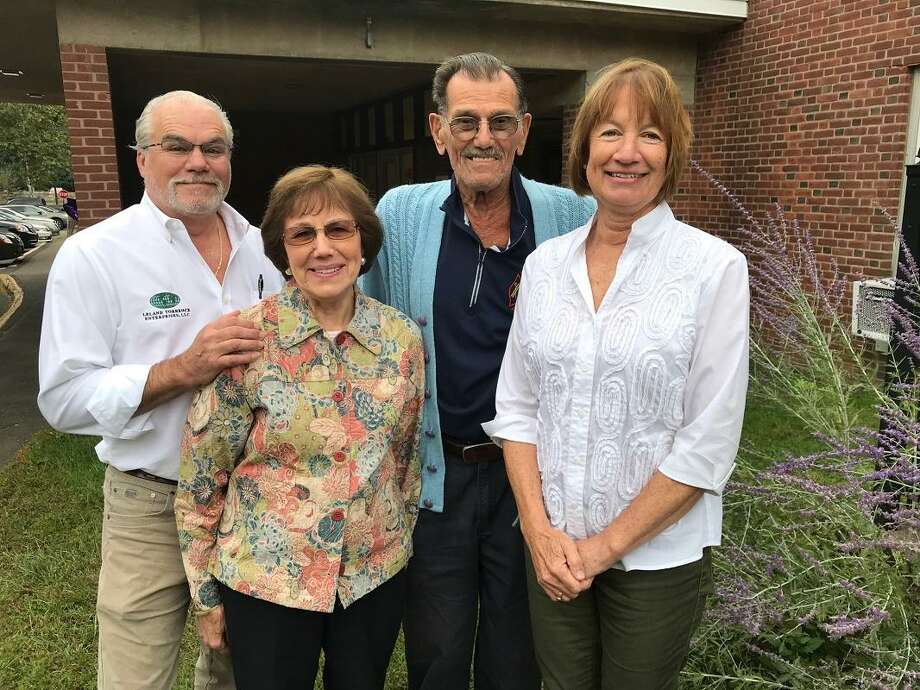 From left to right: Leland R.S. Torrence, Dorothy Martino, Robert Conniff and Louisa Cunningham, are the recipients of Woodbridge's first Living Treasure awards. Photo: Jeanette Glicksman / Photo By Jeanette Glicksman