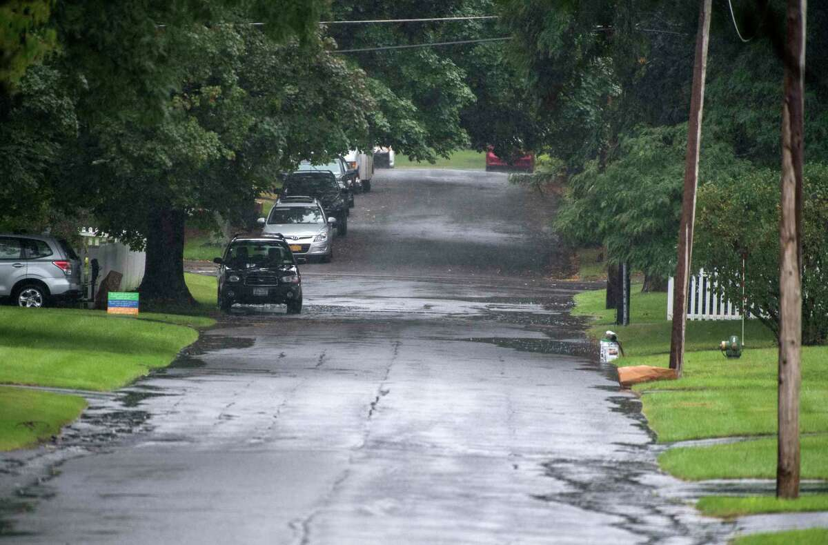 A view of Fairlawn Avenue looking from the north shows the area that could promote flooding with heavy rains Tuesday Sept.25, 2018 in Albany, N.Y. (Skip Dickstein/Times Union)