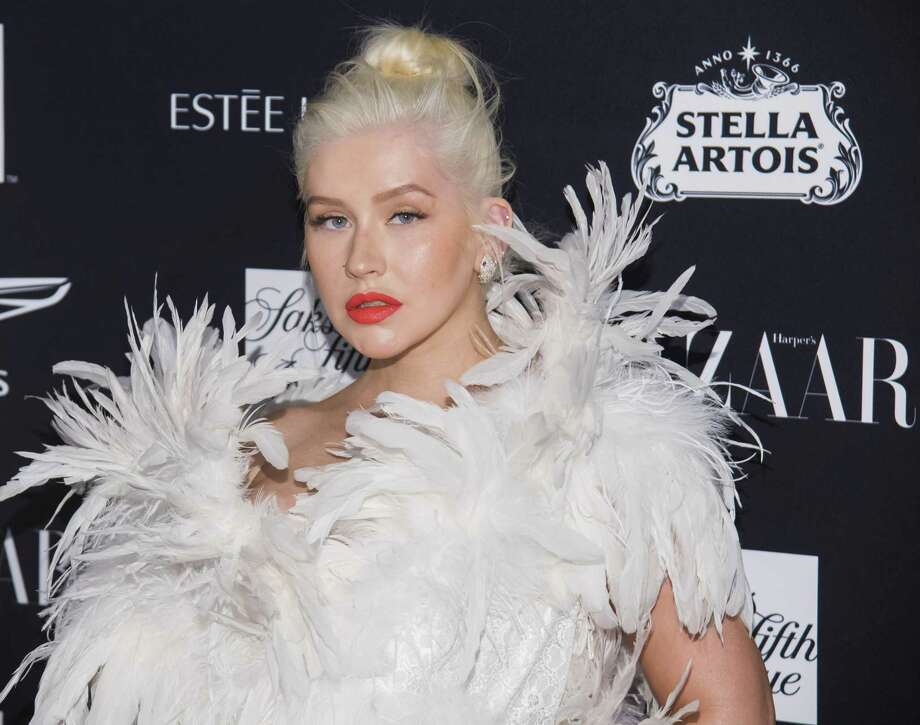 Christina Aguilera attends the Harper's Bazaar Icons party at The Plaza in New York recently. Photo: Charles Sykes / Invision/AP / 2018 Invision
