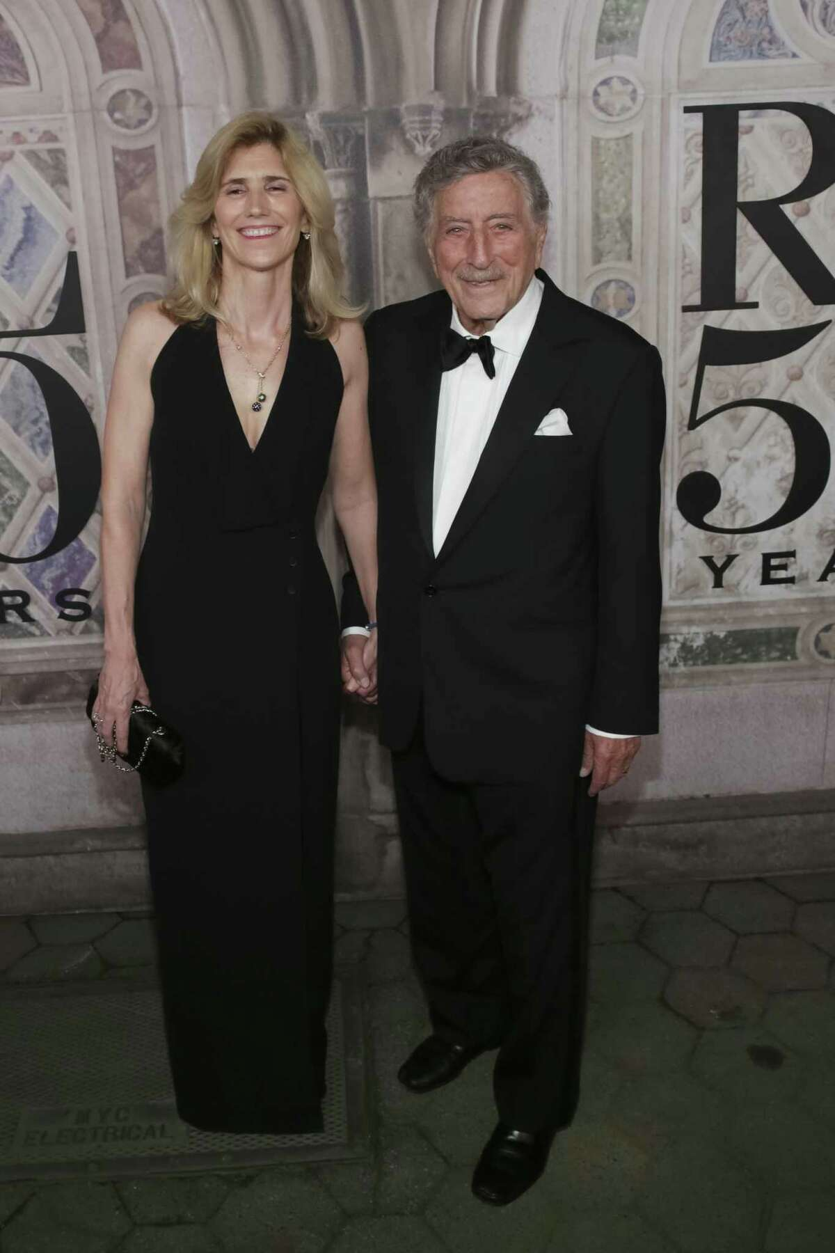 Tony Bennett and his wife Susan Crow Benedetto at a fashion event in New York last year.