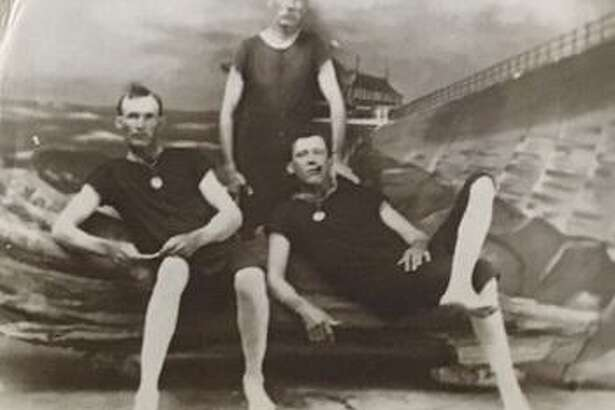 John Lizer, left, shown with friends, came to Pearland during its early years, drawn by an ad in an Ohio newspaper. He became a community leader who helped establish the first fire department.