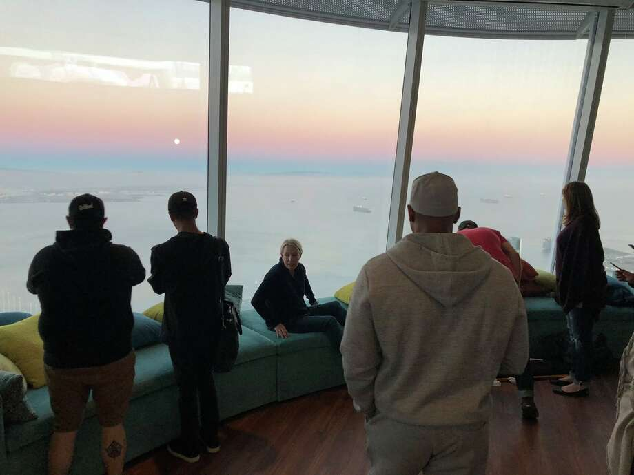 "Salesforce CEO Marc Benioff shared on Twitter on Sept. 23, 2018, ""The top of Salesforce Tower (the Ohana Floor) is now open. No offices— just seating to enjoy the amazing views. Soon the public will be invited up free of charge. This is a powerful space to be shared/enjoyed by everyone in our city. Thank you to everyone who made this possible."" Photo: Twitter / @Bennioff"