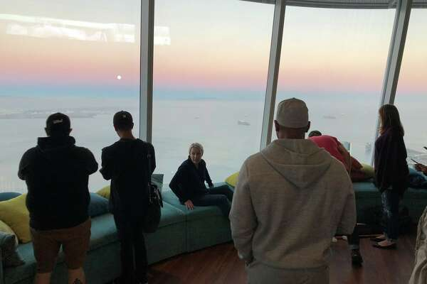 "Salesforce CEO Marc Benioff shared on Twitter on Sept. 23, 2018, ""The top of Salesforce Tower (the Ohana Floor) is now open. No offices- just seating to enjoy the amazing views. Soon the public will be invited up free of charge. This is a powerful space to be shared/enjoyed by everyone in our city. Thank you to everyone who made this possible."""
