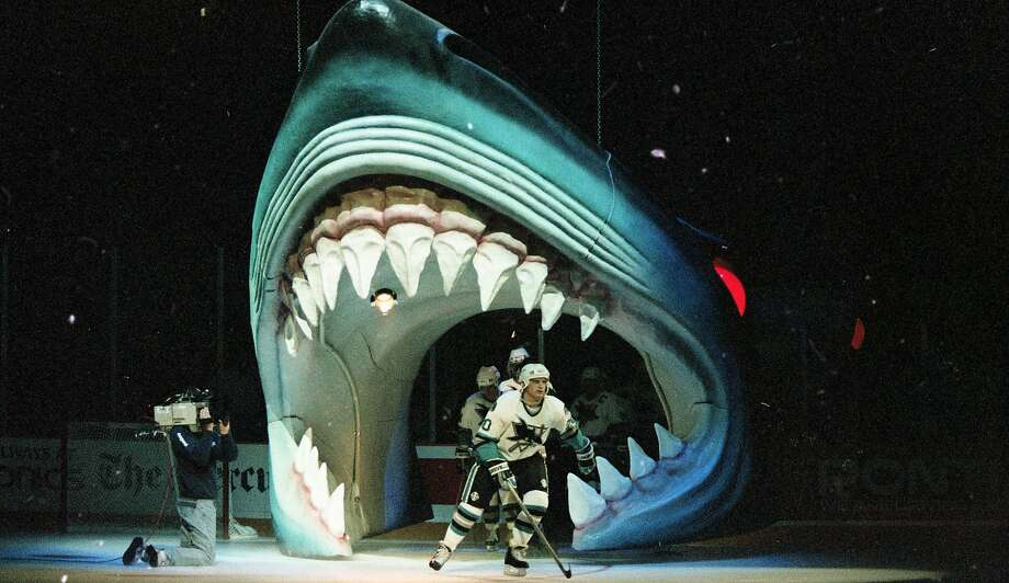 San Jose Sharks players get introduced at the opening home game at the new San Jose Arena, October 14, 1993 By the end of the year, it would be known by the teams enthusiastic fans as the Shark Tank Photo: Deanne Fitzmaurice / The Chronicle
