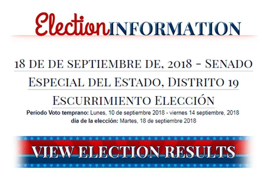 "The ACLU has filed a complaint with Bexar County, alleging that its online Spanish voting materials were the result of inaccurate and jumbled Google Translate compilations. Above, ""escurrimiento elección,"" was supposed to mean ""runoff election,"" but it instead loosely translates to ""election drainage"" or ""election water leak."""